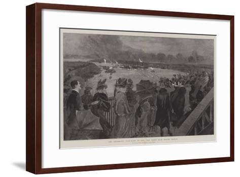 The University Boat-Race of 1901, the Scene from Barnes Bridge-Henry Charles Seppings Wright-Framed Art Print