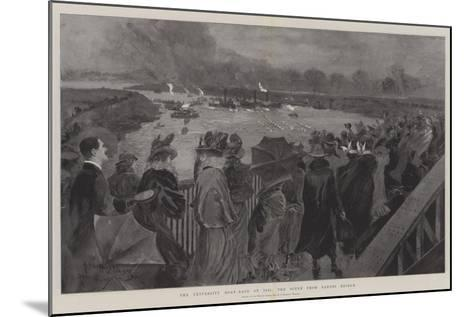 The University Boat-Race of 1901, the Scene from Barnes Bridge-Henry Charles Seppings Wright-Mounted Giclee Print