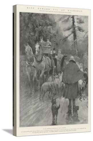 King Edward VII at Balmoral-Henry Charles Seppings Wright-Stretched Canvas Print