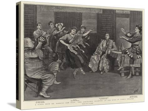 A Scene from Mr Barrie's New Play, The Admirable Crichton, at the Duke of York's Theatre-Henry Marriott Paget-Stretched Canvas Print