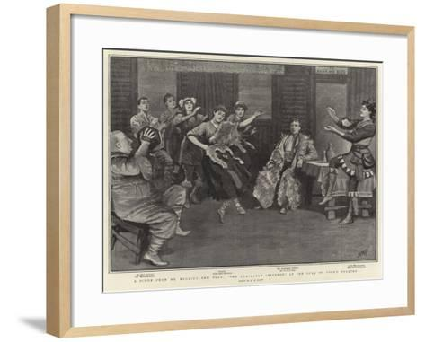 A Scene from Mr Barrie's New Play, The Admirable Crichton, at the Duke of York's Theatre-Henry Marriott Paget-Framed Art Print