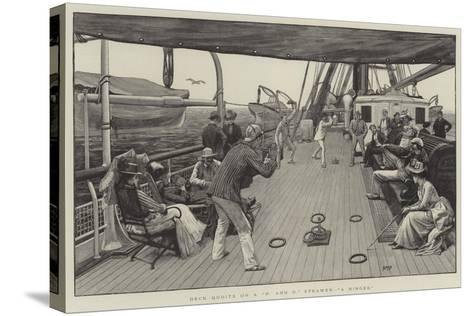 Deck Quoits on a P and O Steamer, A Ringer-Henry Marriott Paget-Stretched Canvas Print