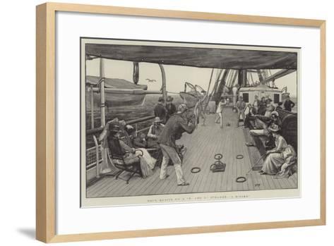 Deck Quoits on a P and O Steamer, A Ringer-Henry Marriott Paget-Framed Art Print
