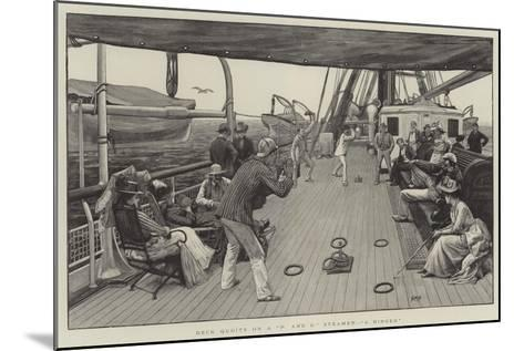 Deck Quoits on a P and O Steamer, A Ringer-Henry Marriott Paget-Mounted Giclee Print
