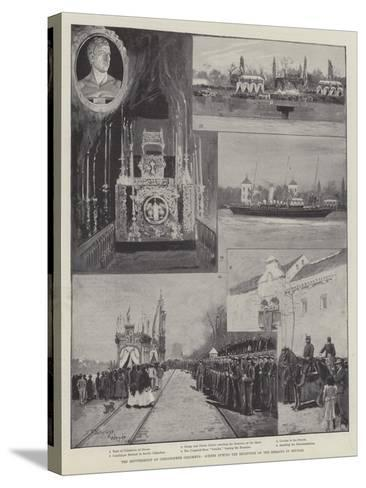 The Reinterment of Christopher Columbus, Scenes During the Reception of the Remains in Seville-Henry Charles Seppings Wright-Stretched Canvas Print