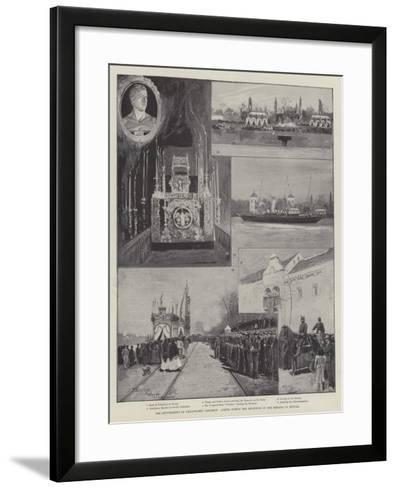 The Reinterment of Christopher Columbus, Scenes During the Reception of the Remains in Seville-Henry Charles Seppings Wright-Framed Art Print