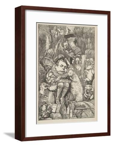 The Beaver Brought Paper-Henry Holiday-Framed Art Print