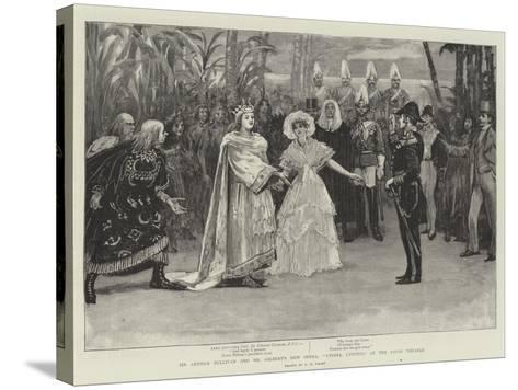 Sir Arthur Sullivan and Mr Gilbert's New Opera, Utopia, Limited, at the Savoy Theatre-Henry Marriott Paget-Stretched Canvas Print