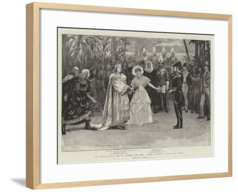 Sir Arthur Sullivan and Mr Gilbert's New Opera, Utopia, Limited, at the Savoy Theatre-Henry Marriott Paget-Framed Art Print