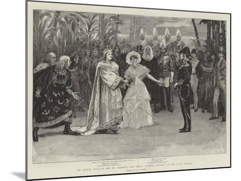 Sir Arthur Sullivan and Mr Gilbert's New Opera, Utopia, Limited, at the Savoy Theatre-Henry Marriott Paget-Mounted Giclee Print