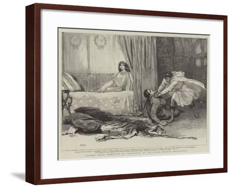 Madame Sarah Bernhardt at Cleopatra at the Royal English Opera-House-Henry Marriott Paget-Framed Art Print