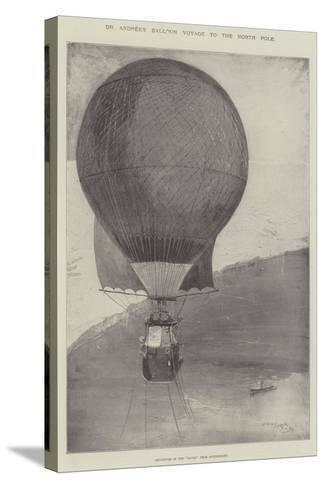Dr Andree's Balloon Voyage to the North Pole-Henry Charles Seppings Wright-Stretched Canvas Print