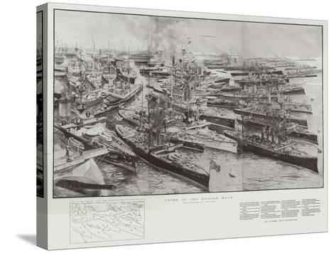 Types of the British Navy-Henry Charles Seppings Wright-Stretched Canvas Print