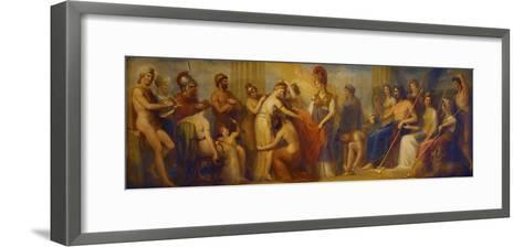 Pandora, Whom the Assembled Gods, Endowed with All their Gifts...', 1834 (Oil on Mahogany Panel)-Henry Howard-Framed Art Print