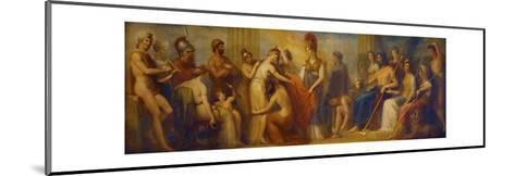 Pandora, Whom the Assembled Gods, Endowed with All their Gifts...', 1834 (Oil on Mahogany Panel)-Henry Howard-Mounted Giclee Print