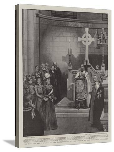 The Emperor and Empress at the Consecration of the Church of the Redeemer, Jerusalem-Henry Marriott Paget-Stretched Canvas Print