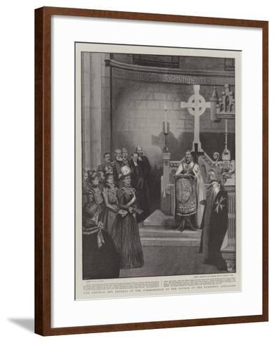 The Emperor and Empress at the Consecration of the Church of the Redeemer, Jerusalem-Henry Marriott Paget-Framed Art Print