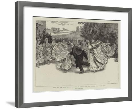Scene from the Second Act of the Vicar of Bray at the Savoy Theatre, the Pas De Cinq-Henry Marriott Paget-Framed Art Print
