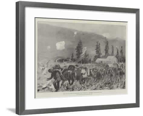 The Transvaal War, Ox Team During the Retirement on Ladysmith after Lombard's Kop-Henry Charles Seppings Wright-Framed Art Print