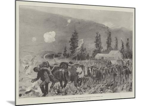 The Transvaal War, Ox Team During the Retirement on Ladysmith after Lombard's Kop-Henry Charles Seppings Wright-Mounted Giclee Print