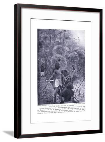 Killing Birds in the Marshes, C.1920-Henry Charles Seppings Wright-Framed Art Print
