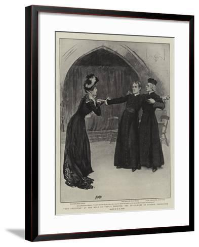 The Christian at the Duke of York's Theatre, the Fulfilment of Storm's Prediction-Henry Marriott Paget-Framed Art Print