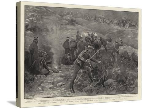 The Greek Retreat from Domoko, the Crown Prince and His Staff in the Phourka Pass-Henry Marriott Paget-Stretched Canvas Print