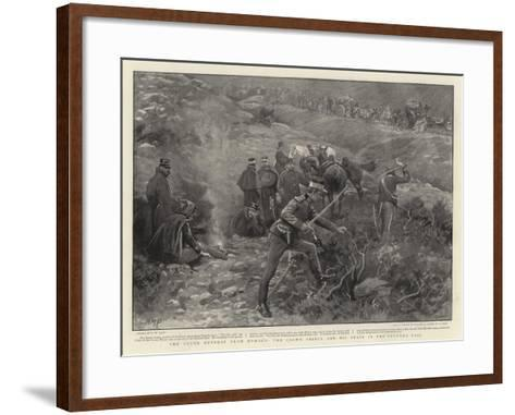 The Greek Retreat from Domoko, the Crown Prince and His Staff in the Phourka Pass-Henry Marriott Paget-Framed Art Print
