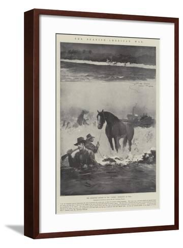 The Spanish-American War, the Attempted Landing of the Gussie Expedition in Cuba-Henry Charles Seppings Wright-Framed Art Print
