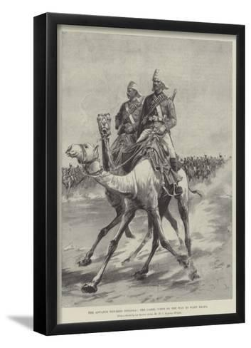 The Advance Towards Dongola, the Camel Corps on the Way to Wady Halfa-Henry Charles Seppings Wright-Framed Art Print