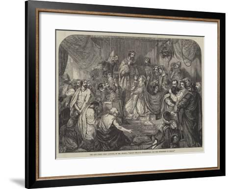 Queen Philippa Interceding for the Burgesses of Calais-Henry Courtney Selous-Framed Art Print