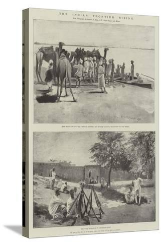 The Indian Frontier Rising-Henry Charles Seppings Wright-Stretched Canvas Print
