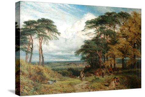 The Gypsy's Encampment and Nottingham from Wilford Hill, 1853-Henry Dawson-Stretched Canvas Print