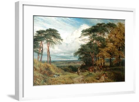 The Gypsy's Encampment and Nottingham from Wilford Hill, 1853-Henry Dawson-Framed Art Print