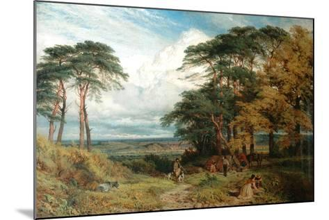 The Gypsy's Encampment and Nottingham from Wilford Hill, 1853-Henry Dawson-Mounted Giclee Print