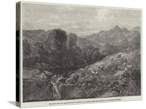The Rocky Path of a Mountain Burn-Henry Jutsum-Stretched Canvas Print