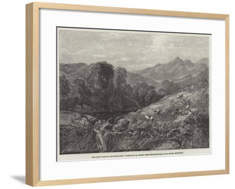 The Rocky Path of a Mountain Burn-Henry Jutsum-Framed Art Print