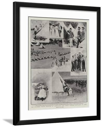 Boy Soldiers under Training at Aldershot, the Public Schools Battalion in Camp-Henry Marriott Paget-Framed Art Print