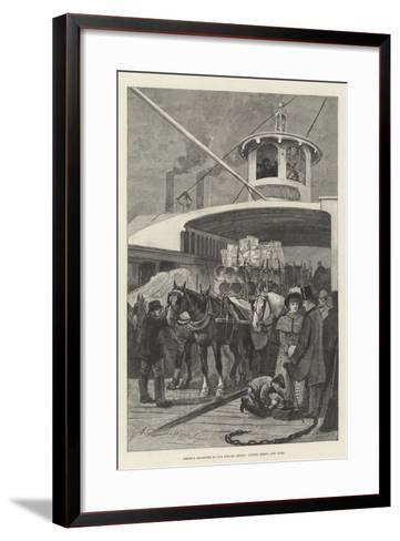 America Revisited by Our Special Artist, Fulton Ferry, New York-Henry Charles Seppings Wright-Framed Art Print