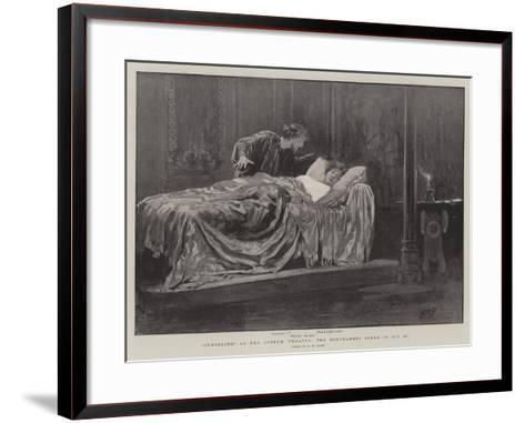 Cymbeline at the Lyceum Theatre, the Bedchamber Scene in Act II-Henry Marriott Paget-Framed Art Print