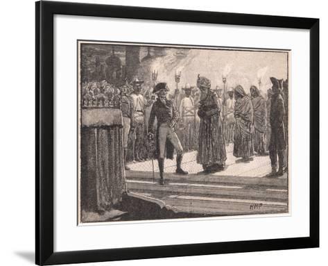 Deposition of Meer Jaffier Ad 1760-Henry Marriott Paget-Framed Art Print