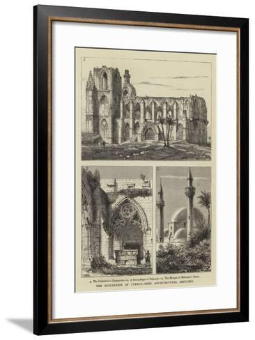 The Occupation of Cyprus, Some Architectural Sketches-Henry William Brewer-Framed Art Print