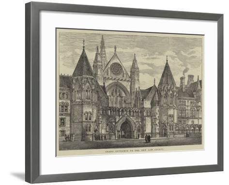 Grand Entrance to the New Law Courts-Henry William Brewer-Framed Art Print