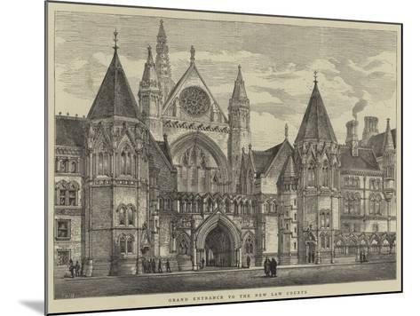 Grand Entrance to the New Law Courts-Henry William Brewer-Mounted Giclee Print