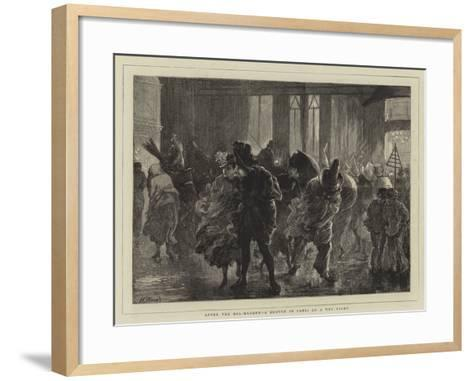 After the Bal-Masque, a Sketch in Paris on a Wet Night-Henry Woods-Framed Art Print