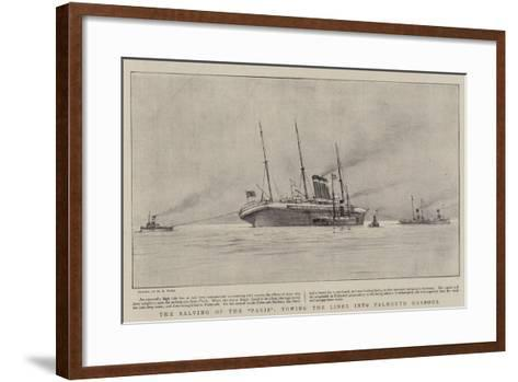 The Salving of the Paris, Towing the Liner into Falmouth Harbour-Henry Scott Tuke-Framed Art Print