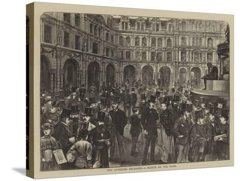 The Liverpool Exchange, a Sketch on the Flags-Henry Woods-Stretched Canvas Print