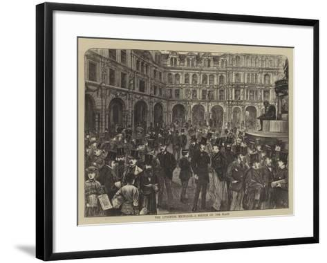 The Liverpool Exchange, a Sketch on the Flags-Henry Woods-Framed Art Print