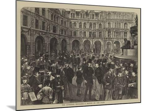 The Liverpool Exchange, a Sketch on the Flags-Henry Woods-Mounted Giclee Print