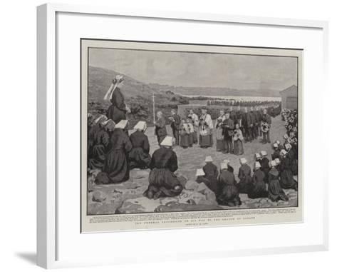 The Funeral Procession on its Way to the Church at Ushant-Henry Marriott Paget-Framed Art Print